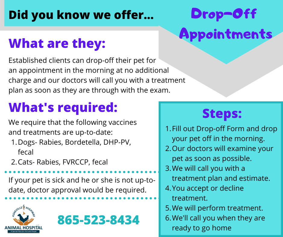Drop-off appointment